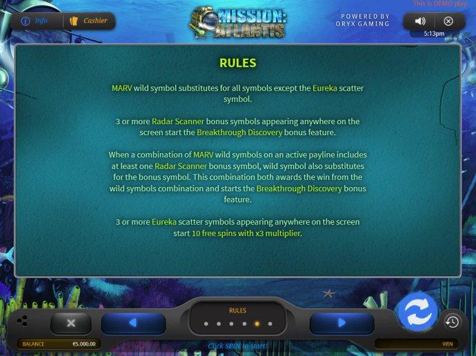 Mission Atlantis screenshot