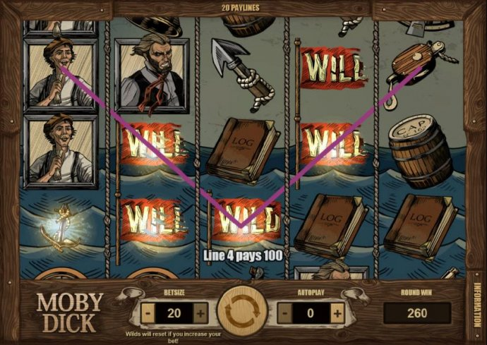 multiple winning paylines triggers a 260 coin jackpot - No Deposit Casino Guide