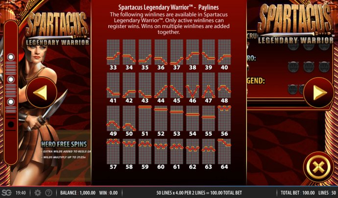 Spartacus Legendary Warrior by No Deposit Casino Guide