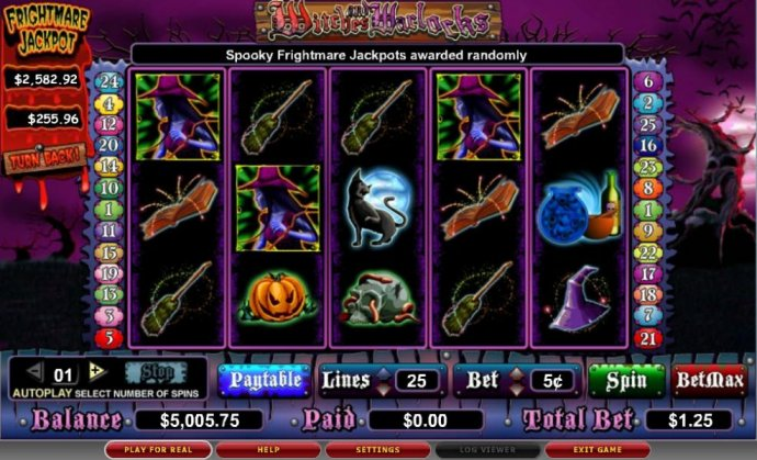 No Deposit Casino Guide image of Witches and Warlocks