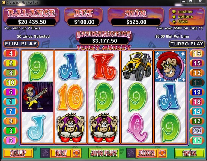 Funky Monkey by No Deposit Casino Guide