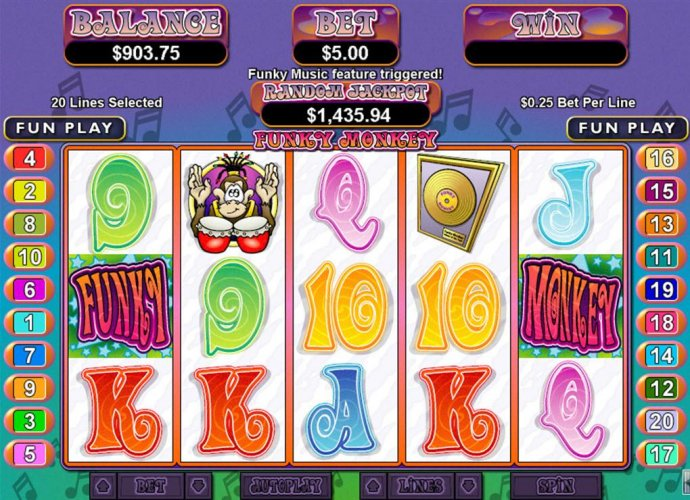 No Deposit Casino Guide image of Funky Monkey
