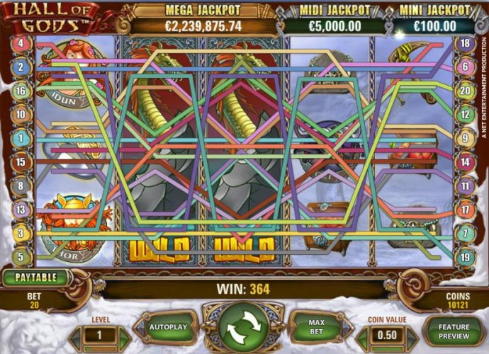 expanding wilds triggers a 366 coin big win payout - No Deposit Casino Guide
