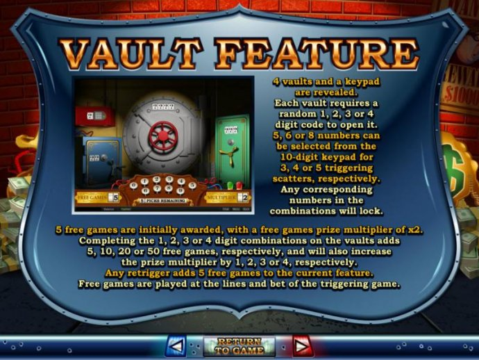Vault Feature Game Rules and How to Play. by No Deposit Casino Guide