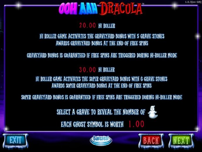No Deposit Casino Guide image of OOH AAH Draclua