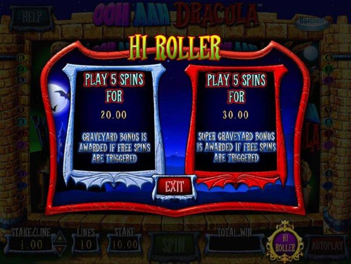 Hi Roller Selection Options - No Deposit Casino Guide