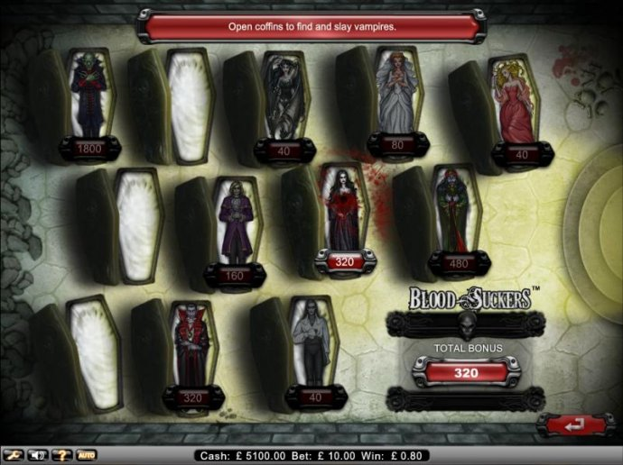 No Deposit Casino Guide image of Blood Suckers