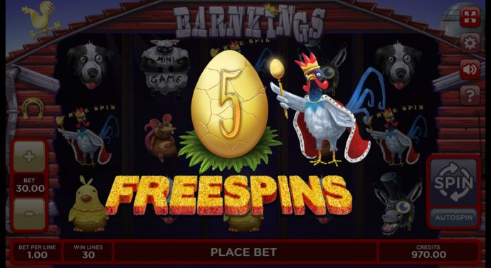 Scatter win triggers the free spins feature by No Deposit Casino Guide