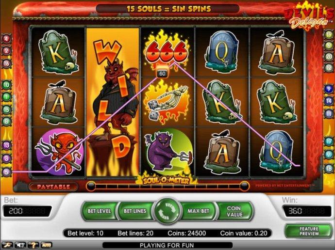 No Deposit Casino Guide image of Devil's Delight