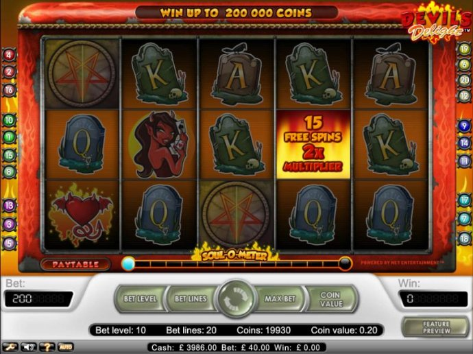 select a pentagram to see how many free games you are awarded. - No Deposit Casino Guide