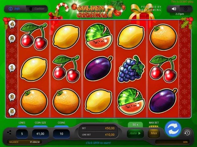Golden 7 Christmas by No Deposit Casino Guide