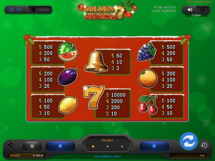 Golden 7 Christmas screenshot