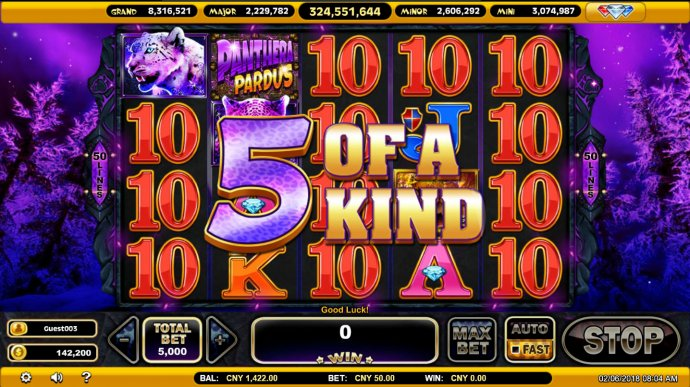 A winning five of a kind by No Deposit Casino Guide