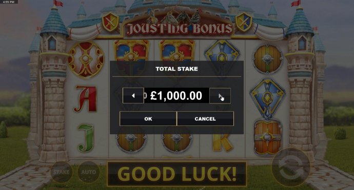 Click on the menu button to adjust the coin value. by No Deposit Casino Guide