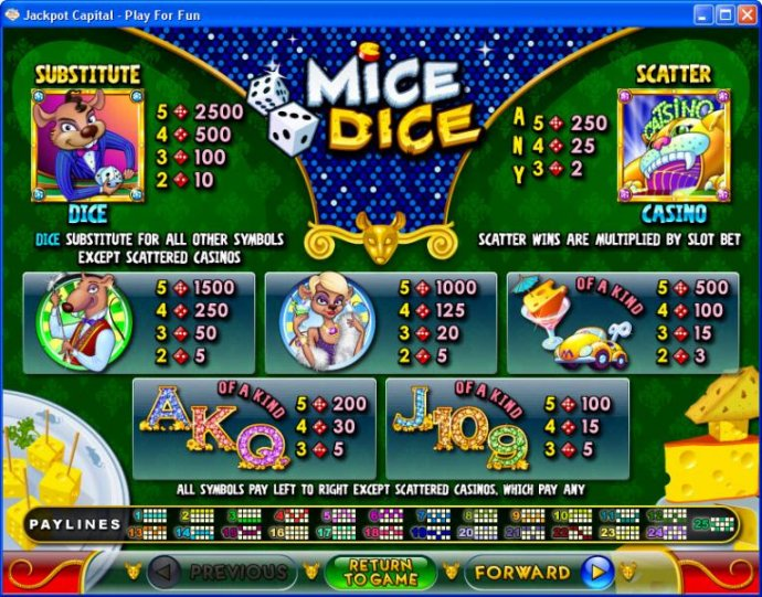 No Deposit Casino Guide image of Mice Dice