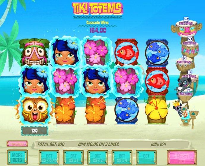 Multiple winning paylines triggers a 164.00 big win! - No Deposit Casino Guide