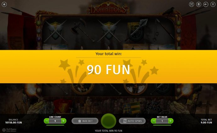 No Deposit Casino Guide - Free Spins feature pays out a total of 90 coins.