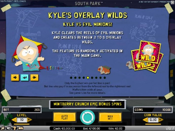No Deposit Casino Guide image of South Park Reel Chaos