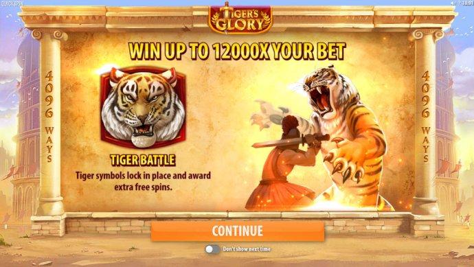 Tiger's Glory screenshot