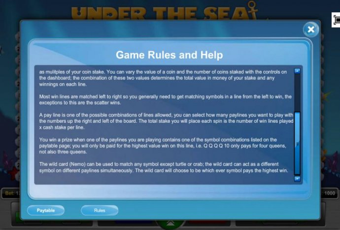 Under the Sea by No Deposit Casino Guide