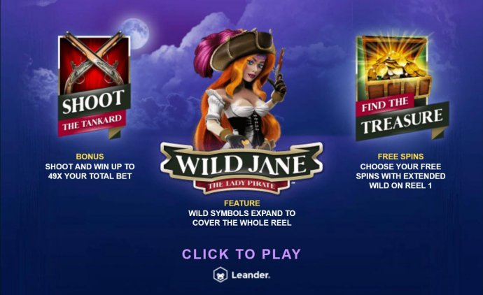 Wild Jane the Lady Pirate by No Deposit Casino Guide