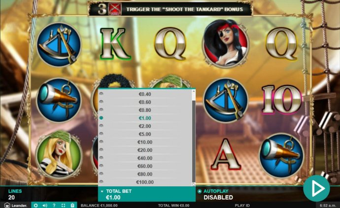 Click on the BET button to adjust the coin value. - No Deposit Casino Guide
