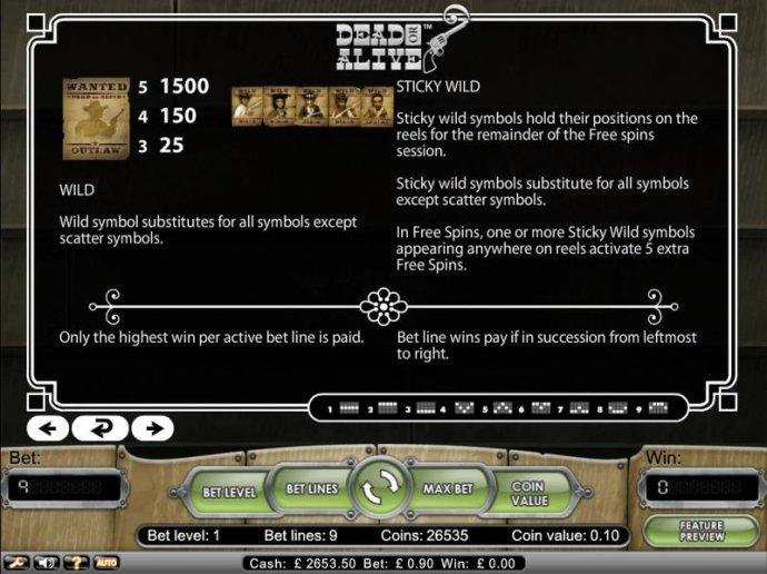 Wild symbol substitutes for all symbols except scatter symbols - No Deposit Casino Guide
