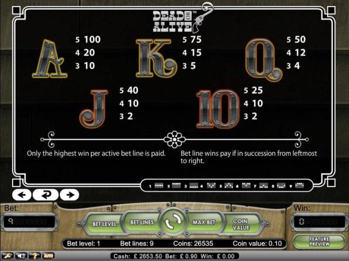 No Deposit Casino Guide image of Dead or Alive
