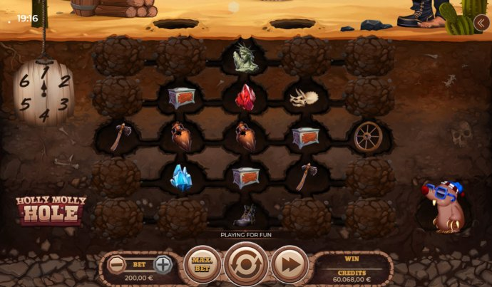 No Deposit Casino Guide image of Holly Molly Hole