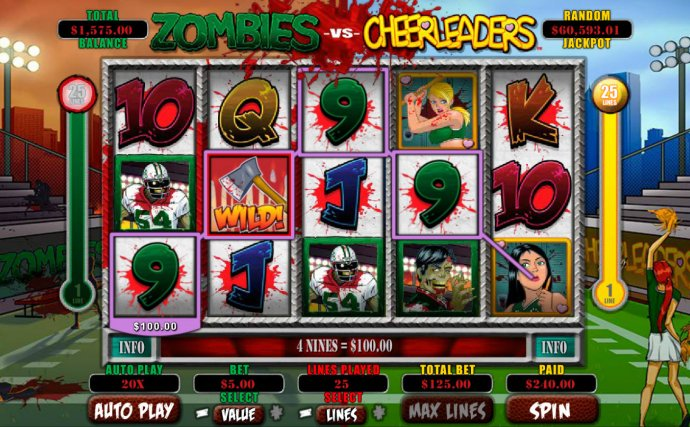 Zombies vs Cheerleaders by No Deposit Casino Guide