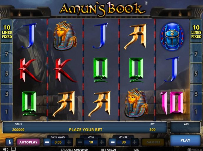 Amun's Book by No Deposit Casino Guide