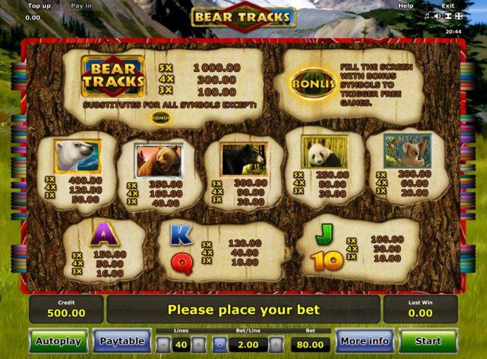 Bear Tracks by No Deposit Casino Guide