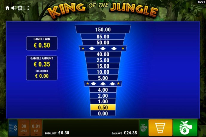 Ladder Gamble Feature Game Board available after every winning spin. - No Deposit Casino Guide