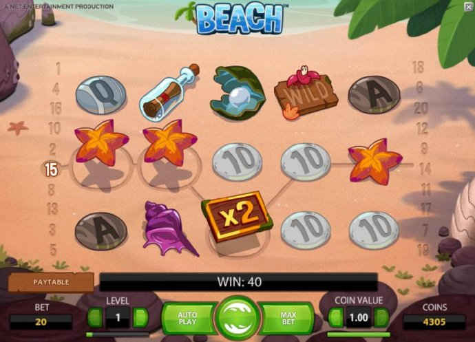 a 40 coin jackpot was triggered after the octopus wild swapped the two symbols by No Deposit Casino Guide
