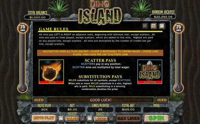 No Deposit Casino Guide image of Dino Island