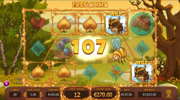 No Deposit Casino Guide - Multiple winning paylines triggers a big win during the free spins feature!