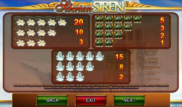 No Deposit Casino Guide image of Siberian Siren