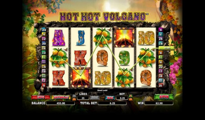 Hot Hot Valcano by No Deposit Casino Guide
