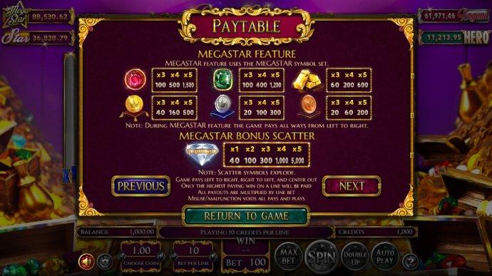 Megastar Feature Rules - No Deposit Casino Guide