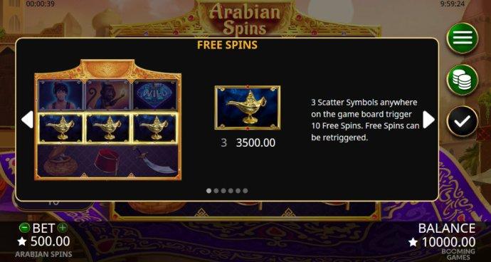 No Deposit Casino Guide image of Arabian Spins