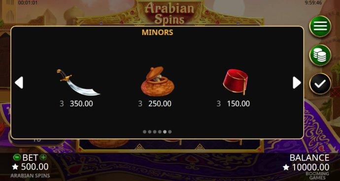 Arabian Spins screenshot