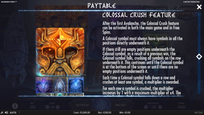 Colossal Crush Feature by No Deposit Casino Guide