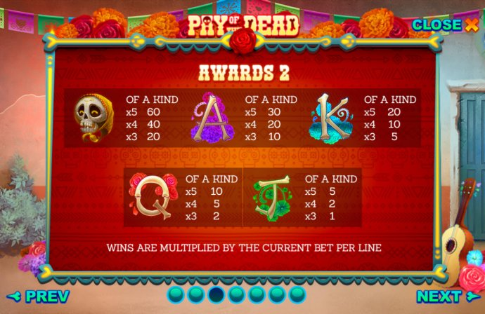 No Deposit Casino Guide image of Pay of the Dead