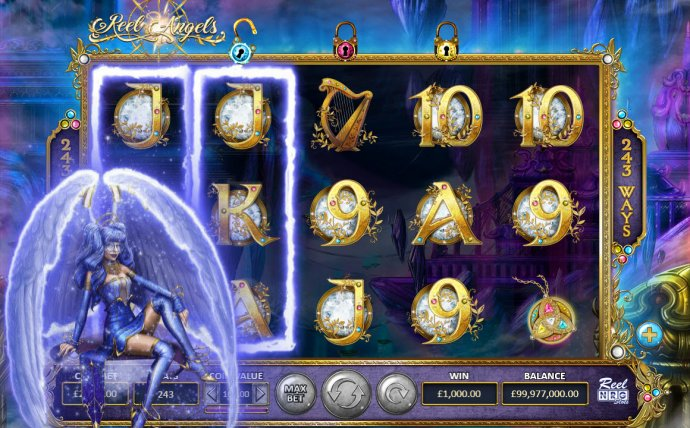 Blue Angel feature triggered by No Deposit Casino Guide