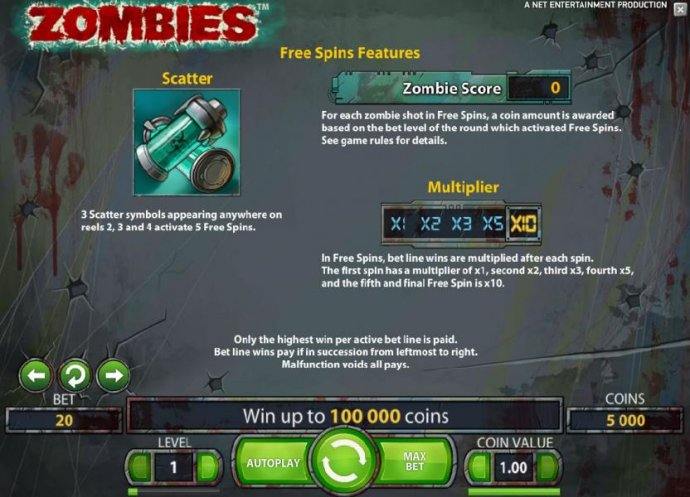 No Deposit Casino Guide image of Zombies