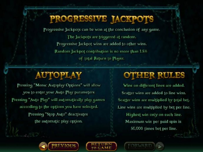 Progressive Jackpot Rules - Progressive jackpots can be won at the conclusion of any game. The jackpots are triggered at random. - No Deposit Casino Guide