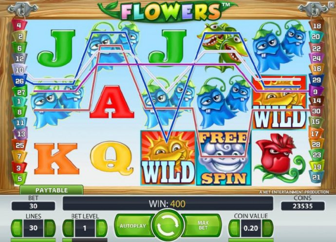 400 coin big win triggered by a couple of wild symbols - No Deposit Casino Guide