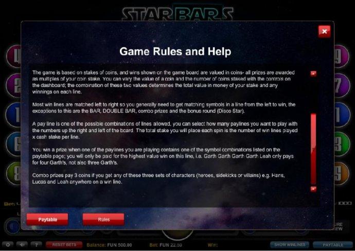 Starbars screenshot