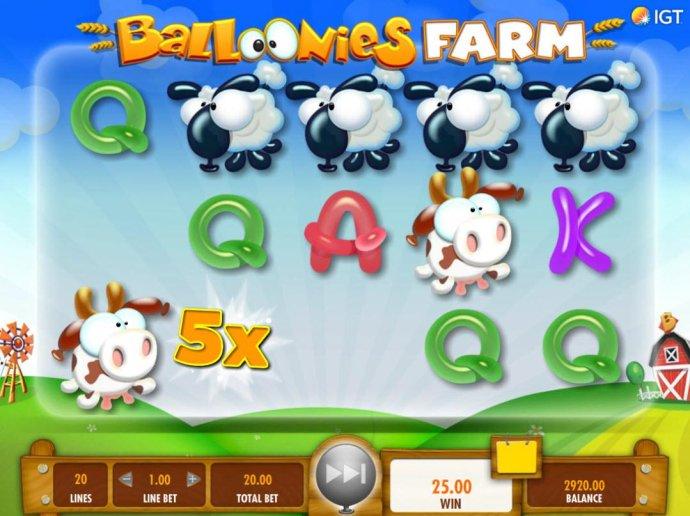 No Deposit Casino Guide image of Balloonies Farm