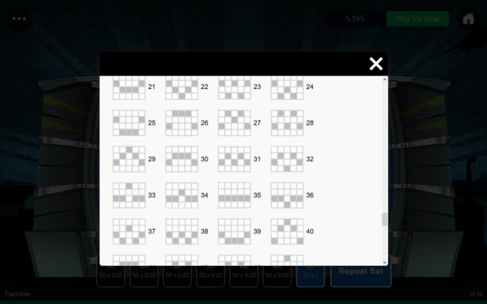 Payline Diagrams 21-40 - No Deposit Casino Guide